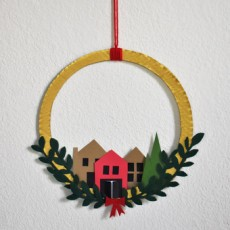 [National] 24 Days of Merry Making: Paper Village Wreath