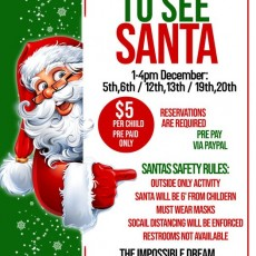 Things to do in Warwick, RI for Kids: You're Invited To See Santa, The imPOSSIBLE Dream Playground
