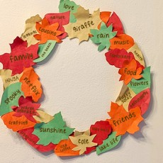 Things to do in Hulafrog at Home: Kids Club Online: Gratitude Garland/Wreath