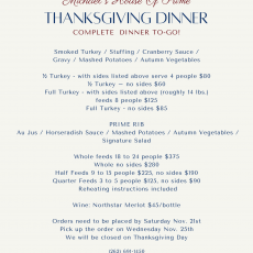 Michael's House of Prime Thanksgiving Dinner To-Go!