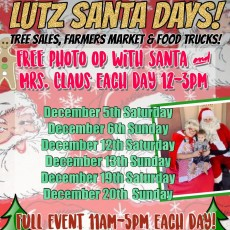Things to do in Wesley Chapel-Lutz, FL: Lutz Santa Days