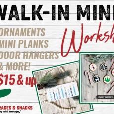 Holiday Walk-in Mini Workshops