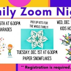 Family Zoom Nights - 3D Paper Sowflakes