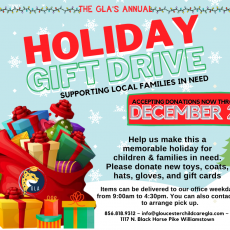 Things to do in Deptford-Monroe Township, NJ for Kids: The Gloucester Learning Academy Holiday Gift Donation Event, The Gloucester Learning Academy