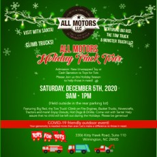 All Motors Holiday Truck Tour to benefit Toys for Tots