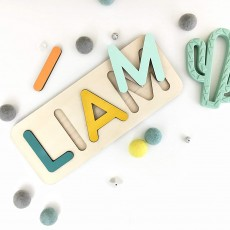 Hand Crafted Personalized Wooden Name Puzzle