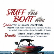 Santa Visits for Donation Send Off Party
