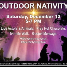 Things to do in Waukesha-Lake Country, WI for Kids: Outdoor Nativity, Divine Redeemer Lutheran Church and School