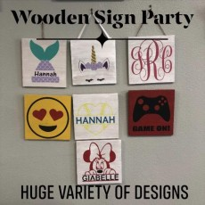 DIY Wooden Sign Painting Party