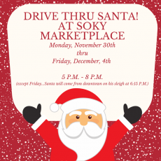 Things to do in Bowling Green, KY for Kids: Drive Thru Santa, SoKY Marketplace