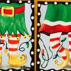Olathe, KS Events for Kids: Parent and Child Holiday Paint Class {All Ages}