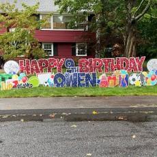 Yard Card Birthday Message