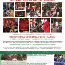Photos with Santa at Echo Hill Farm **BYO Camera **Reserved Time