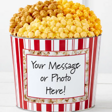 Personalized Pop Corn Tin (Pic or Message)