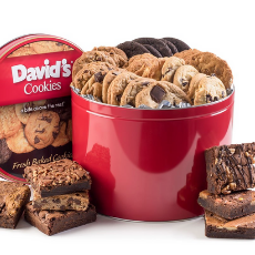 David's Cookie Treat Tin