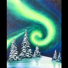 In-Studio Paint Class - Winter Lights