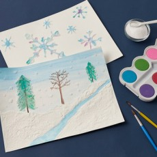 Kids Club Online: Wintery Salt Painting