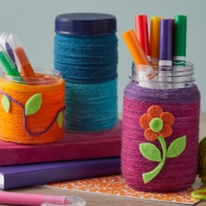 [National] Yarn Wrapped & Painted Containers