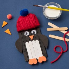 Things to do in Warwick, RI: [National] Kids Club Online: Craft Stick Penguin