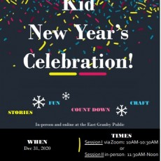 Virtual Kid New Year's Celebration!
