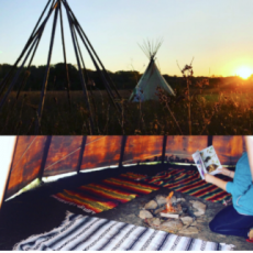 Things to do in Olathe, KS for Kids: Campfire Night | Tipi Tales {All Ages}, Blue River Forest Experience
