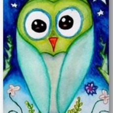 Watercolor Owl Paintings