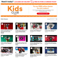 Michael's Kids Club Virtual Craft Workshops for your next Virtual Party!
