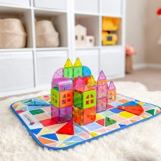Magna Tiles Storage Bin & Interactive Play-Mat
