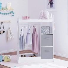 Dress up Storage with Mirror and Storage Bin