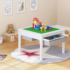 2 in 1 LEGO Construction Play Table with Storage Drawers