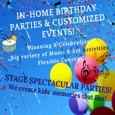 In-Home Birthday Parties with Stage Music Center