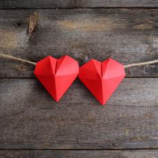 Origami 3-D Hearts