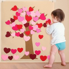 DIY Felt Valentine Tree Set