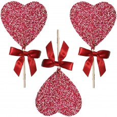 Chocolate Heart Shaped Lollipops