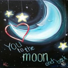 To the Moon and Back  - In Studio Event (Ages 7+)