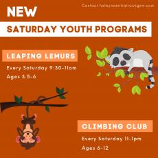 Saturday Youth Programs - Climbing Club