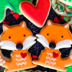 Fabulous Ms. Fox & Friends Virtual Valentine Family Cookie Decorating