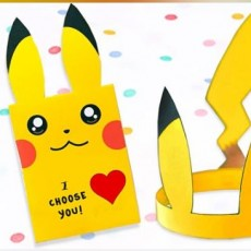 [National] Pokemon Hat & Valentine Card Craft