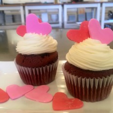 Valentine's Day Heart Cupcakes (Ages 2-8 with Caregiver)