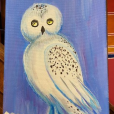 Cape May County, NJ Events: Snowy Owl Painting (Sessions at 1PM & 6PM)
