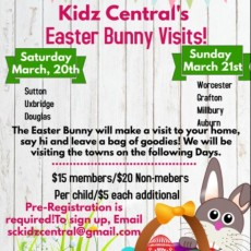 Things to do in Worcester, MA: Kidz Central's Easter Bunny Visits!