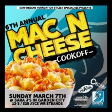 Things to do in Myrtle Beach, SC for Kids: 6th Annual SDF Mac-N-Cheese, Sara J's Seafood Restaurant