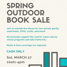 Friends of the Library Outdoor Spring Book Sale