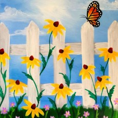 Wesley Chapel-Lutz, FL Events: In-Studio Paint Class - Blooming Butterfly