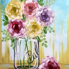 Wesley Chapel-Lutz, FL Events: In-Studio Paint Class - Blooming Bouquet