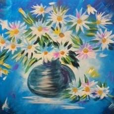Wesley Chapel-Lutz, FL Events: In-Studio Paint Class - Daisies in Blue