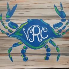 Wesley Chapel-Lutz, FL Events: In-Studio Paint Class - Crabby Monogram