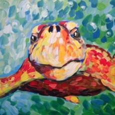 Wesley Chapel-Lutz, FL Events: In-Studio Paint Class - Curious Loggerhead Sea Turtle