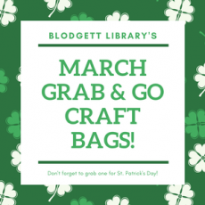 Dutchess County, NY Events: March Grab & Go Bags