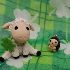 Make a St. Paddy's Lamb & Hedgehog